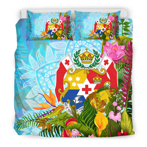 Tonga Bedding Set - Tropical Flowers Boho Style - BN01