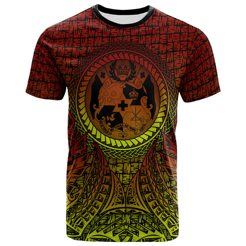 Image of Tonga T-Shirt - Polynesian Circle Pattern