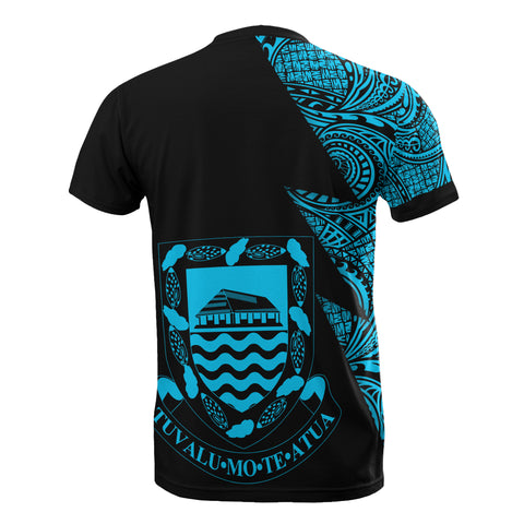 Image of Tuvalu Custom Personalised T-Shirt - Polynesian Pattern Neon Style - BN09