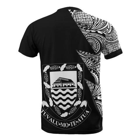 Image of Tuvalu Custom Personalised T-Shirt - Polynesian Pattern White Style - BN09