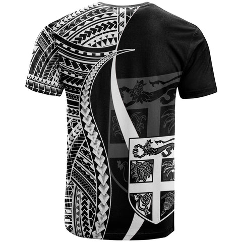 FiJi T-Shirt White - Polynesian Tentacle Tribal Pattern