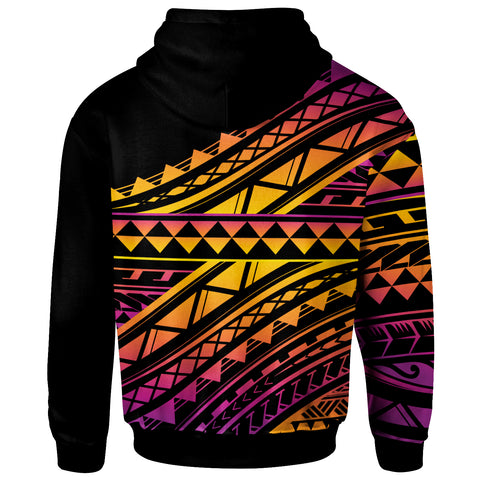 Image of Polynesian Zip-Up Hoodie - Special Polynesian Ornaments - BN20