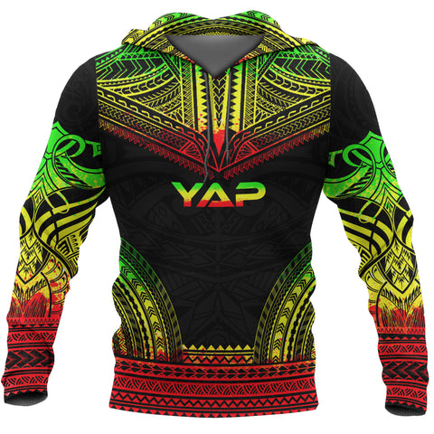 Yap All Over Hoodie - Micronesian Reggae Color Version - Chief Style - BN10
