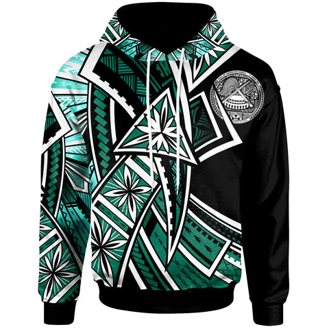 American Samoa Hoodie - Tribal Flower Special Pattern Green Color - BN20