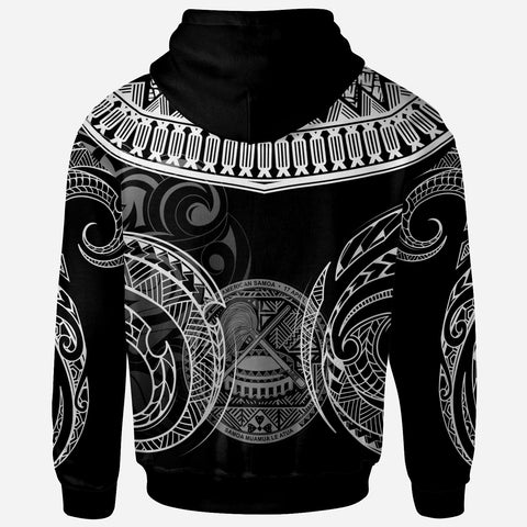 Image of American Samoa - Custom Personalised Hoodie - Serrated Pattern White Color - BN20
