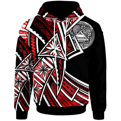 Image of American Samoa  Hoodie - Tribal Flower Special Pattern Red Color - BN20
