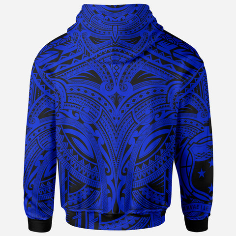 Samoa All Over Hoodie - Samoa Coat Of Arms (Blue) - BN17