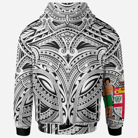 FiJi All Over Hoodie - FiJi Coat Of Arms (White) - BN17