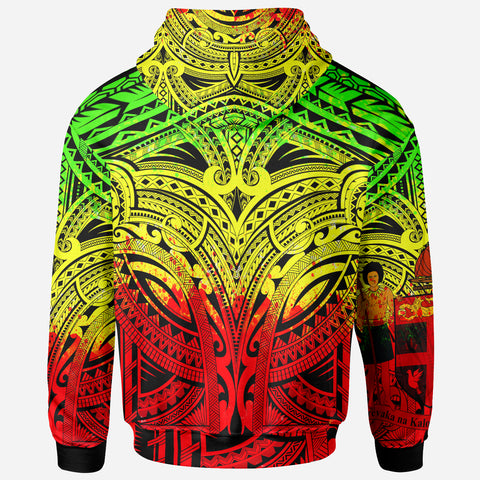 Image of FiJi All Over Hoodie - FiJi Coat Of Arms (Reggae) - BN17