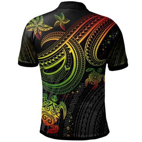 Image of Polynesian Polo Shirt - Reggae Turtle