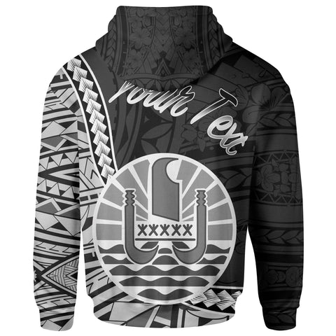 Image of French Polynesia Hoodie - Custom Seal Of French Polynesia Polynesian Patterns - BN01
