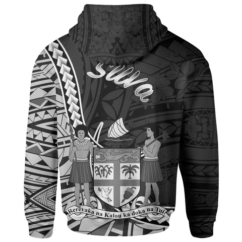 Fiji Hoodie - Suva Seal Of Fiji Polynesian Patterns