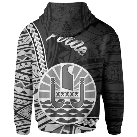 French Polynesia Zip Hoodie - Pirae Seal Of French Polynesia Polynesian Patterns