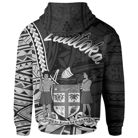 Fiji Hoodie - Lautoka Seal Of Fiji Polynesian Patterns