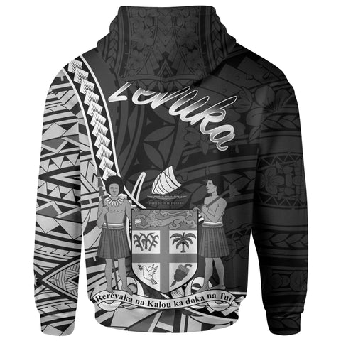 Fiji Hoodie - Levuka Seal Of Fiji Polynesian Patterns