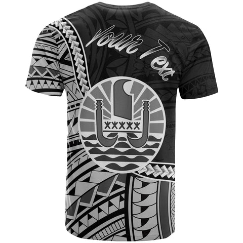 Image of French Polynesia T-Shirt - Custom Seal Of French Polynesia Polynesian Patterns - BN01