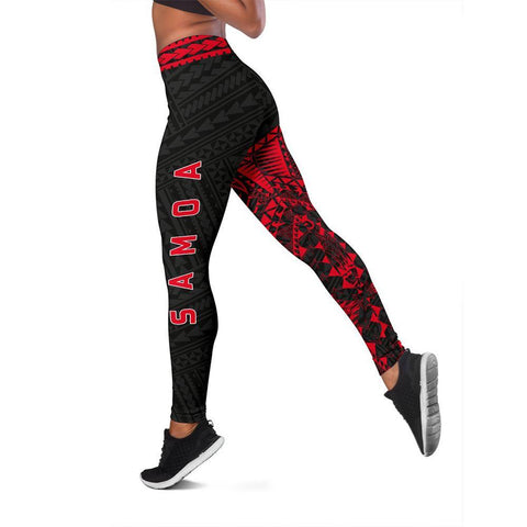 Image of Samoa Polynesian 1st Leggings (Red) A6