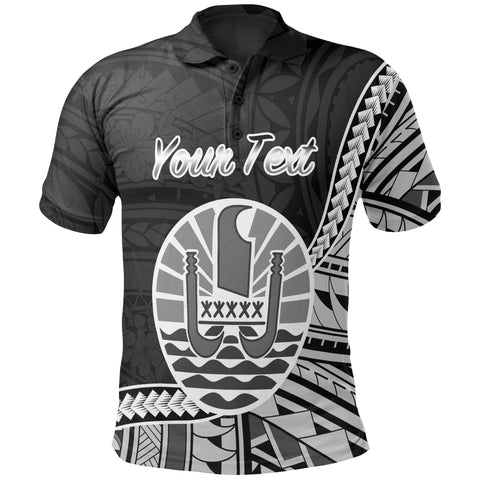 French Polynesia Polo Shirt - Custom Seal Of French Polynesia Polynesian Patterns - BN01