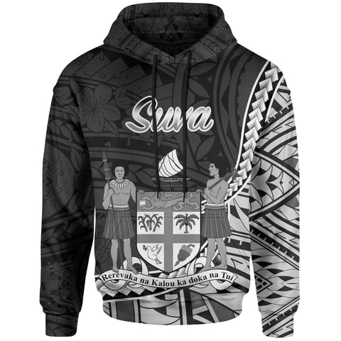 Image of Fiji Hoodie - Suva Seal Of Fiji Polynesian Patterns