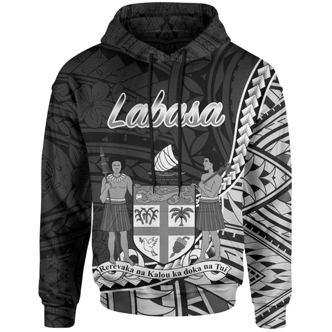 Image of Fiji Hoodie - Labasa Seal Of Fiji Polynesian Patterns
