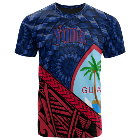 Guam T-Shirt - Yona Tapa Patterns With Bamboo