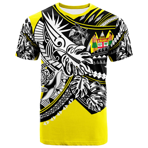 Image of Fiji T-Shirt - Tribal Jungle Yellow Pattern - BN20