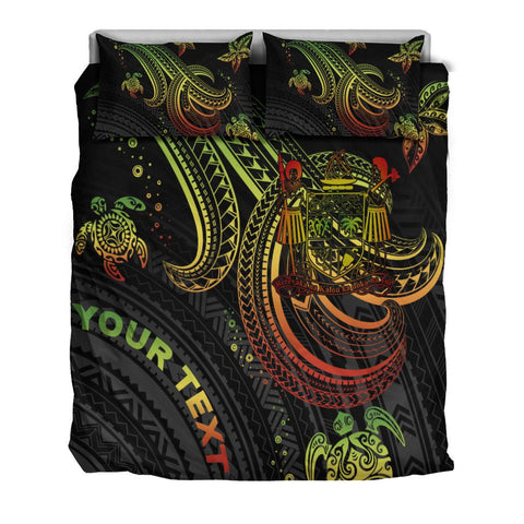 Image of Fiji Custom Personalised Bedding Set - Reggae Turtle