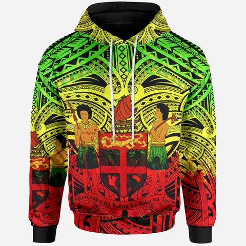 FiJi All Over Hoodie - FiJi Coat Of Arms (Reggae) - BN17
