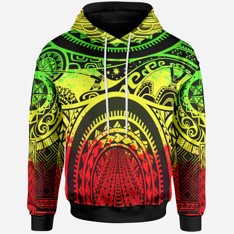 Polynesian Hoodie - Polynesian Patterns Maui Tattoo (Reggae) - BN17