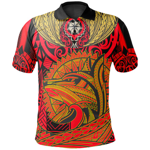 Polynesian Polo Shirt - Polynesian Wolf Patterns - BN17