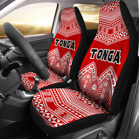 Tonga Polynesian Tribal Pattern Car Seat Covers