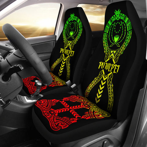 Image of Pohnpei Car Seat Covers - Micronesian Tribal Reggae - BN04