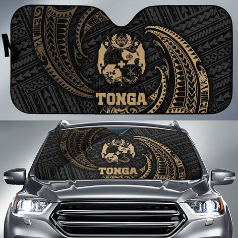 Image of Polynesian Tonga Sun Shades - Gold Tribal Wave