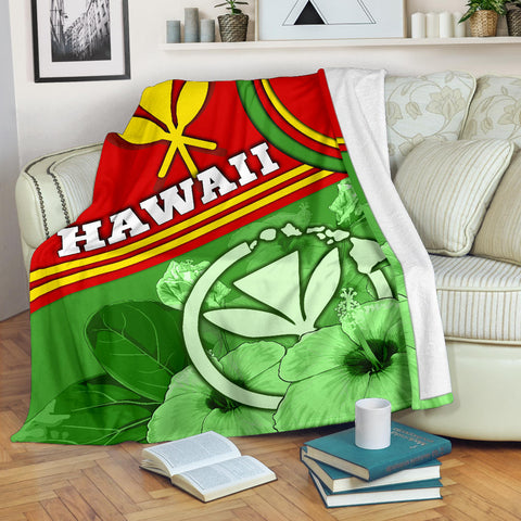 Hawaii Polynesian Premium Blanket - State of Hawaii
