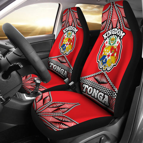 Tonga Polynesian Car Seat Covers - Coat of Arms
