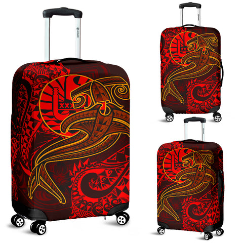 Image of Tahiti Luggage Covers - Red Shark Polynesian Tattoo - BN18
