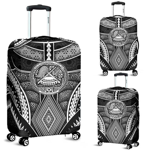Polynesian Luggage Covers - American Samoa Coat Of Arm With Poly Patterns - BN17