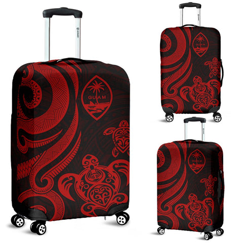 Guam Polynesian Luggage Covers - Red Tentacle Turtle