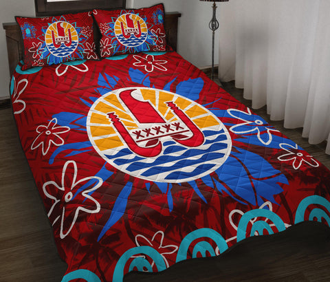 Tahiti Coat Of Arms Polynesian Quilt Bed Set Set - BN12
