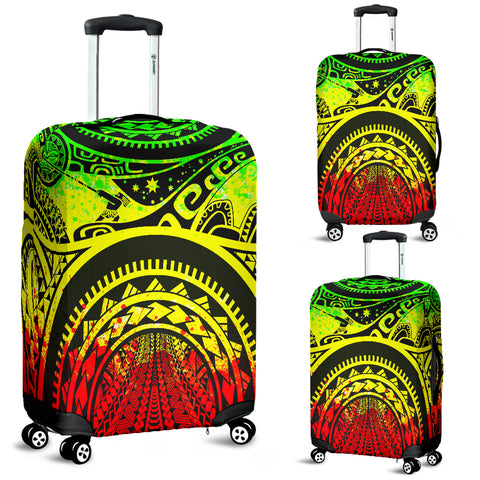 Image of Polynesian Luggage Covers - Maui Tattoo (Reggae) - BN17
