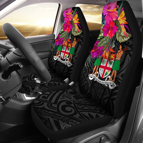 Image of Fiji Car Seat Covers - Polynesian Hibiscus Pattern