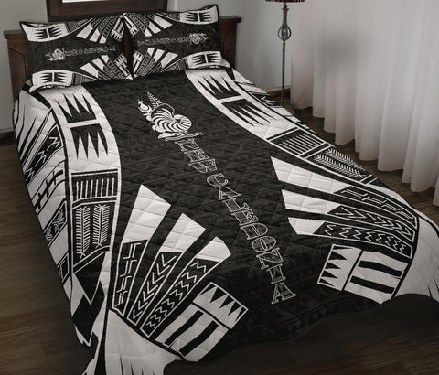 New Caledonia Polynesian Quilt Bed Set - Black Tattoo Style - BN0112