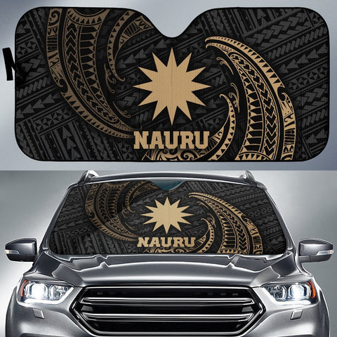 Polynesian Nauru Sun Shades - Gold Tribal Wave