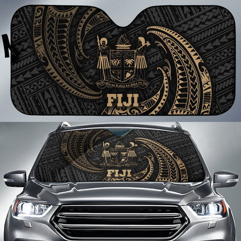 Polynesian Fiji Sun Shades - Gold Tribal Wave