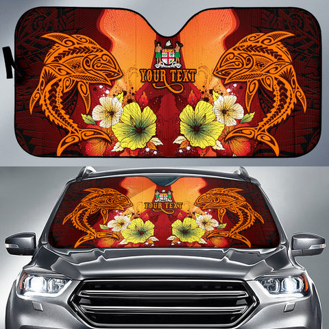 Fiji Custom Personalised Auto Sun Shades - Tribal Tuna Fish - BN39