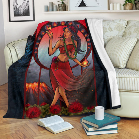 Polynesian Hawaii Blanket - Pele Hawaiian Girl