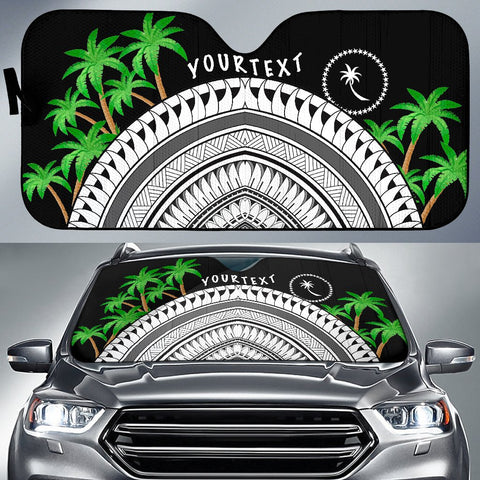 Chuuk Custom Personalised Auto Sun Shades - Ginger Lei Pattern - BN20