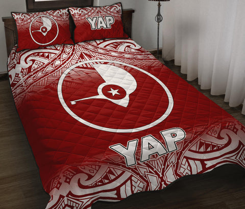 Yap Quilt Bed Set - Red Fog Style - BN12