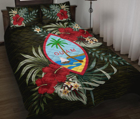 Image of Guam Polynesian Quilt Bed Set - Special Hibiscus