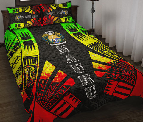 Image of Nauru Polynesian Quilt Bed Set - Reggae Tattoo Style - BN0112